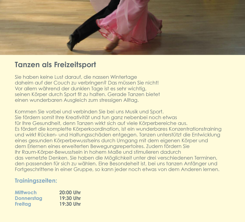 Tanzen als Freizeitsport